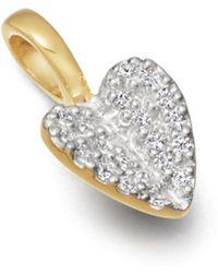Missoma - Folded Heart Pave Charm - Lyst