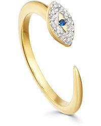 Missoma - Evil Eye Open Ring - Lyst