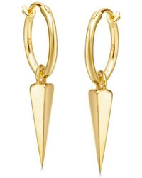 Missoma - Gold Mini Spike Charm Hoops - Lyst