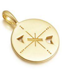 Missoma - Mantra Compass Talisman Pendant - Lyst