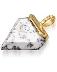 Missoma - Dendritic Chalcedony Mini Shield Pendant - Lyst