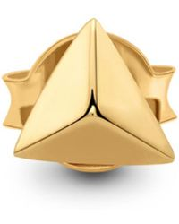 Missoma - Gold Single Pyramid Stud - Lyst