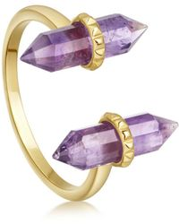 Missoma - Amethyst Double Wand Ring - Lyst