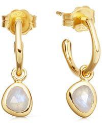 Missoma - Gold Mini Molten Stone Hoops - Lyst