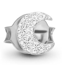 Missoma - Silver Single Pave Moon Stud - Lyst