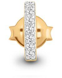 Missoma - Gold Single Pave Bar Stud - Lyst