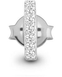 Missoma - Silver Single Pave Bar Stud - Lyst