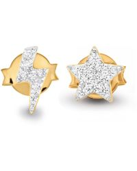 Missoma - Gold Star Struck Pave Stud Pair - Lyst
