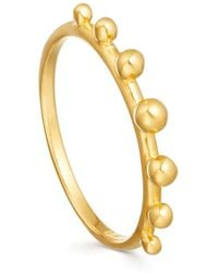 Missoma - Lucy Williams X Tiny Orb Ring - Lyst