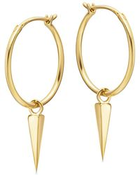 Missoma - Gold Medium Spike Charm Hoops - Lyst