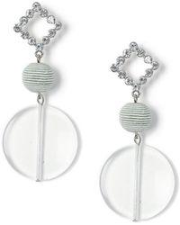 Miss Selfridge - Ball Drop Earrings - Lyst