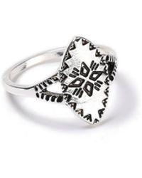 Miss Selfridge - Engraved Sheild Ring - Lyst