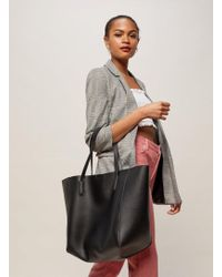 Miss Selfridge - Black Oversized Unlined Tote Bag - Lyst