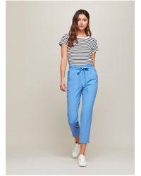 Miss Selfridge - Blue Paper Bag Trousers - Lyst