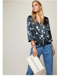 Miss Selfridge - Cream Grab Clutch Bag - Lyst
