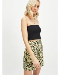 Miss Selfridge - Neon Animal Print Shorts - Lyst