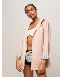 Miss Selfridge - Pink Raincoat - Lyst
