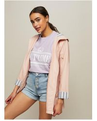 Miss Selfridge - Pink Raincoat - Lyst