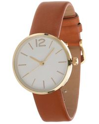 Miss Selfridge - Classic Round Faced Watch - Lyst