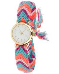 Miss Selfridge - Woven Strap Watch - Lyst