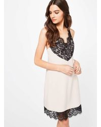 Miss Selfridge - Nude Lingerie Cami Dress - Lyst