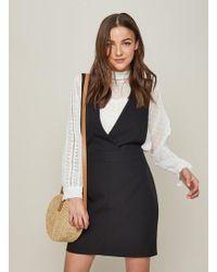 Miss Selfridge - Black Pinafore Dress - Lyst