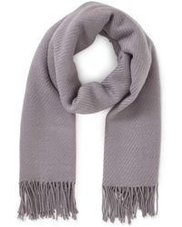 Miss Selfridge - Grey Tassel Soft Scarf - Lyst