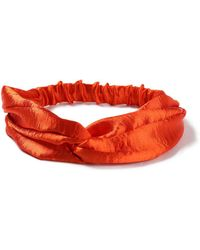 Miss Selfridge - Orange Silk Bandeau - Lyst