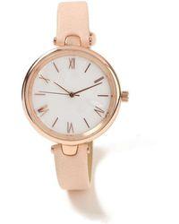 Miss Selfridge - Rose Gold Marble Watch - Lyst