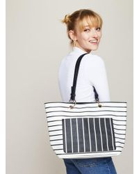 Miss Selfridge - Stripe Tote Bag - Lyst