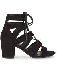 64bc152ad0ca Miss Selfridge - Black Cara Lace Up Gladiator Sandals - Lyst