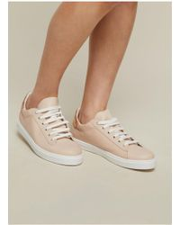 Miss Selfridge - Emmi Nude Lace Up Trainers - Lyst