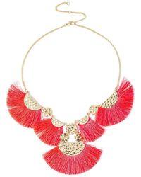 Miss Selfridge - Pink Collar Necklace - Lyst