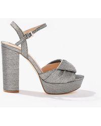 Miss Selfridge - Crystal Platform Sandals - Lyst
