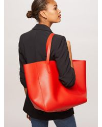 Miss Selfridge - Red Oversized Unlined Tote Bag - Lyst