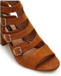 Miss Selfridge - Connie Tan Heeled Gladiator Sandals - Lyst