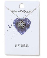 Miss Selfridge - September Birthstone Necklace - Lyst