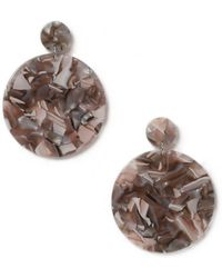 Miss Selfridge - Grey Marble Earrings - Lyst