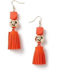 Miss Selfridge - Block Tassel Earrings - Lyst