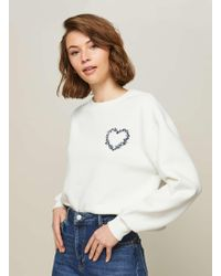 Miss Selfridge | Embroidered Heart Sweatshirt | Lyst