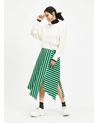 e4661ae120 Lyst - Miss Selfridge Striped Sequin Embellished Pencil Skirt in Green