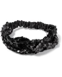 Miss Selfridge - Black Sequin Headband - Lyst
