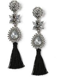 Miss Selfridge - Flower Drop Earrings - Lyst