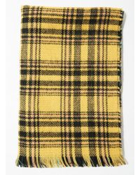 Miss Selfridge - Reversible Check Scarf - Lyst