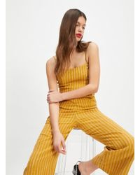 4d16498642 Miss Selfridge Ochre Double Layer Playsuit in Yellow - Lyst