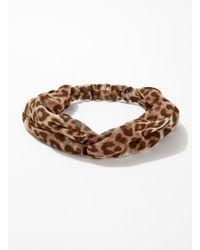 Miss Selfridge - Leopard Print Headband - Lyst