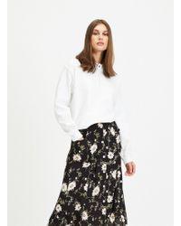 Miss Selfridge - White Long Sleeve Oversized Hoodie - Lyst