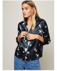 Miss Selfridge - Floral Print Pyjama Shirt - Lyst