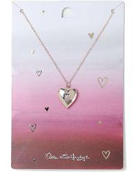 Miss Selfridge | Heart Locket Necklace | Lyst