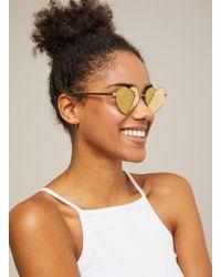 Miss Selfridge - Quay Australia Heartbreaker Gold Heart Shaped Sunglasses - Lyst